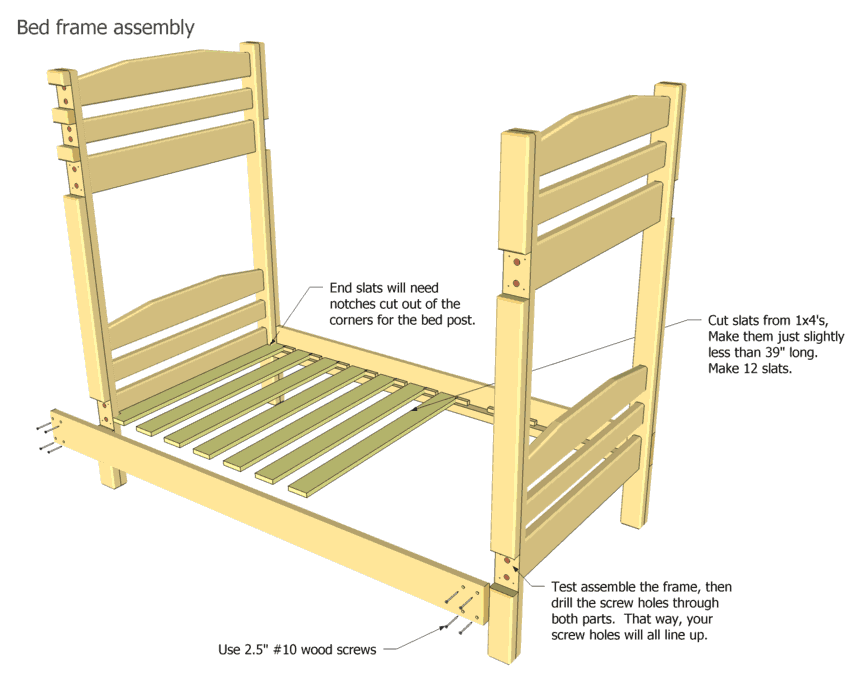 Bunk Bed Ladder Plans Picture Plans To Build Bunk Beds
